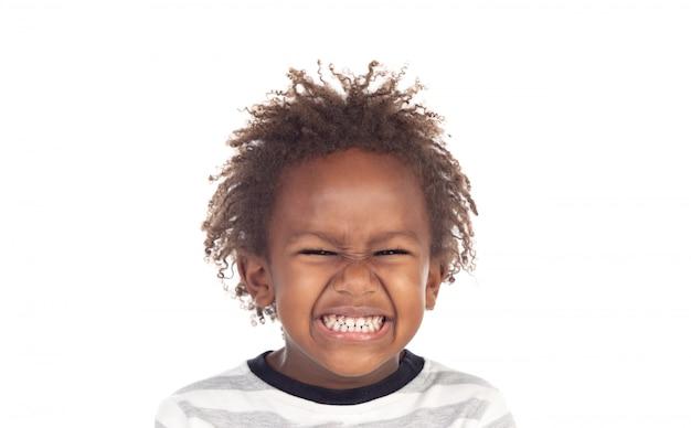 Красивый ребенок со смешным выражением