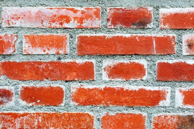 赤レンガの壁の詳細