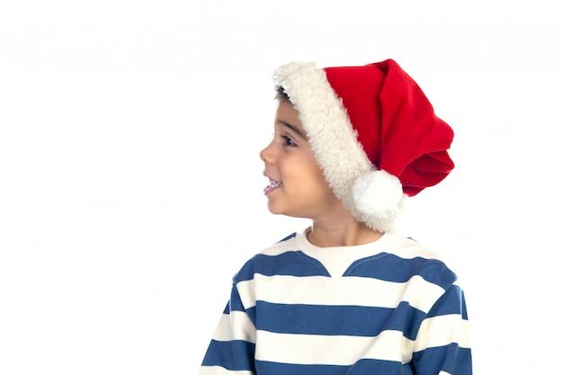 Цыганка в новогодней шапке