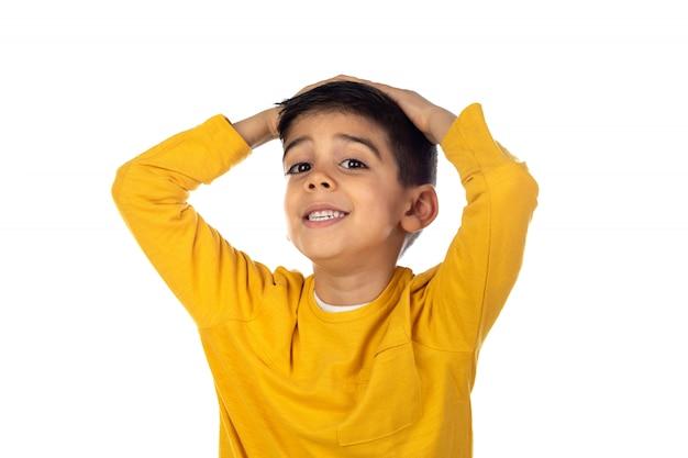 Удивленный цыганский ребенок