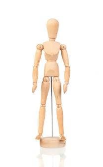 人の木製模型