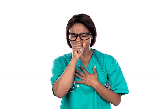 緑の制服を着た医者