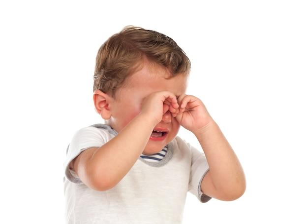 Милый ребенок плачет