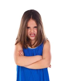 怒っている小さな子供