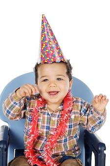 あなたの誕生日を祝う愛らしい少年