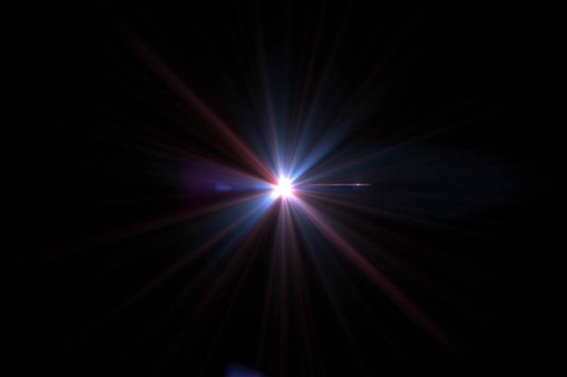 Аннотация солнца с вспышкой. естественный фон с огнями и солнечными обоями.
