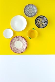 黄色の食器