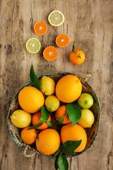 オレンジ、みかん、レモン