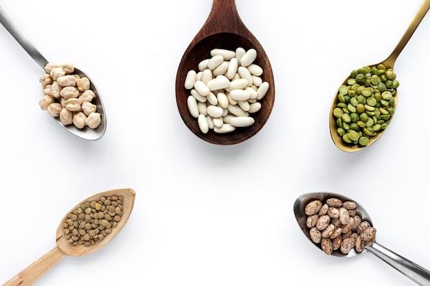 マメ科植物、レンズ豆、ヒヨコ豆、豆、青レンズ豆