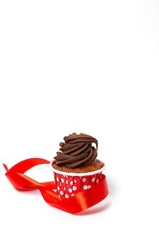 キャンドルで誕生日自家製カップケーキ
