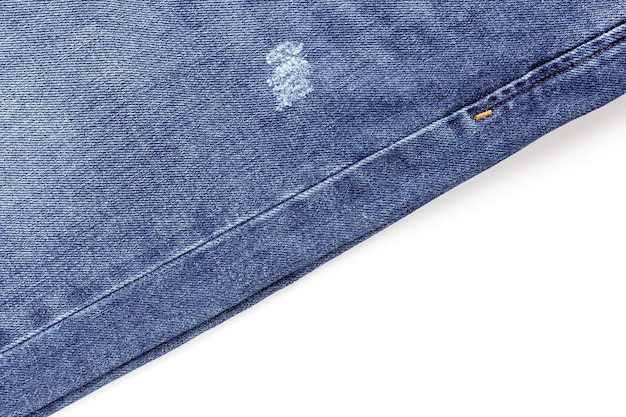 Синие джинсы на белом