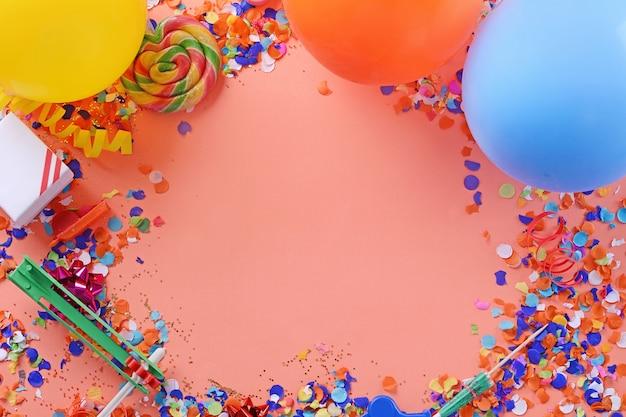Цветной партийный кадр с днем рождения