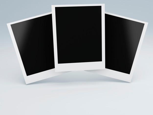 フォトフレーム。レトロ写真コンセプト