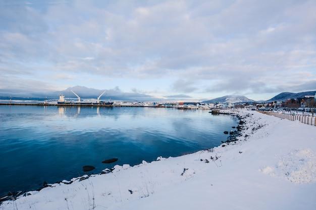 冬の美しいウシュアイアの景色。