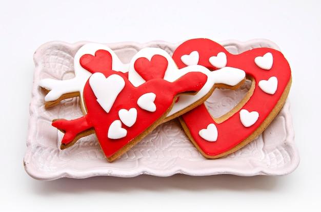 Сдобное печенье в форме сердца