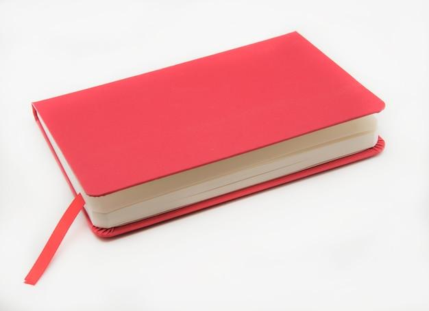 白い背景の上のノート