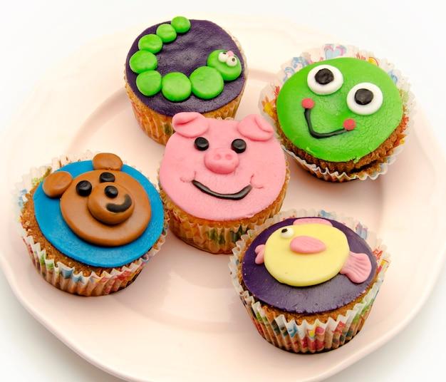 カップケーキ動物の形