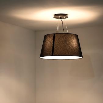 モダンな吊り下げ式照明器具。