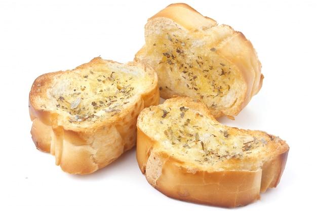スライスした自家製トーストハーブパンの分離