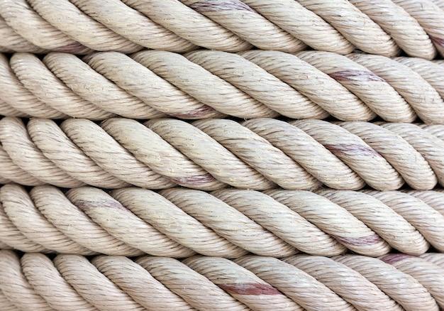 ロープカールのパターンとテクスチャ