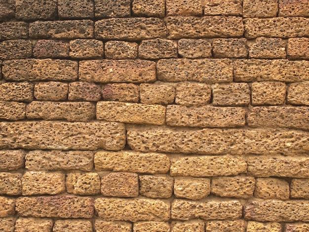 ラテライトブロック壁の背景