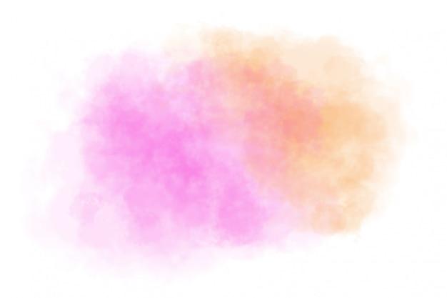 白地に抽象的なピンクの水彩画