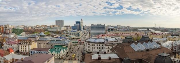 カザン市、ロシア、タタールスタンのパノラマ