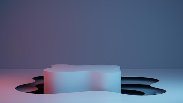 ステージと抽象的な背景