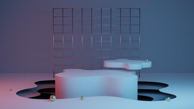 Абстрактный фон со сценой