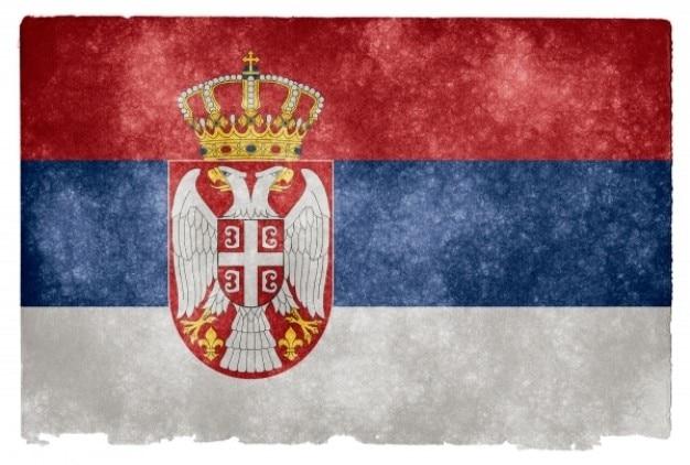 Сербия гранж флаг