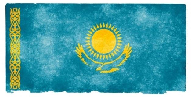 Казахстан флаг гранж