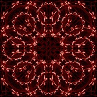 赤い円形スパイクのテクスチャ