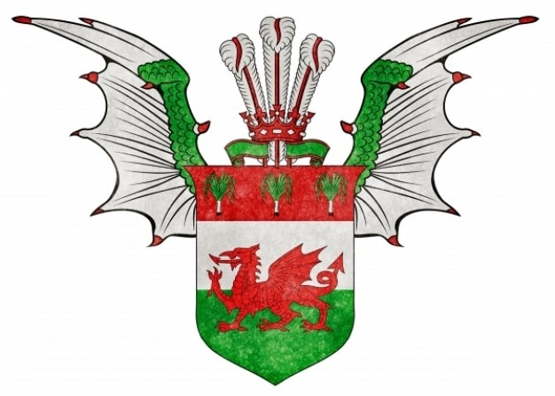 Валлийский пользовательских гранж эмблема
