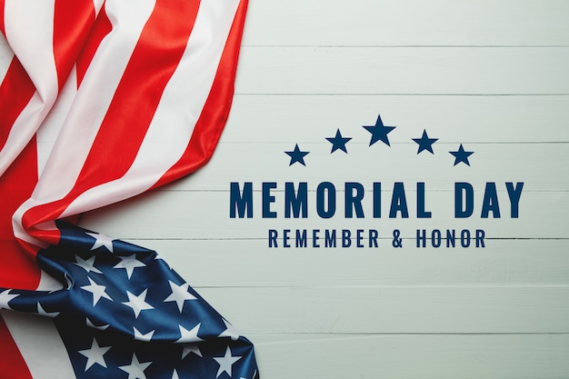 День поминовения сша и концепция дня независимости, флаг соединенных штатов америки