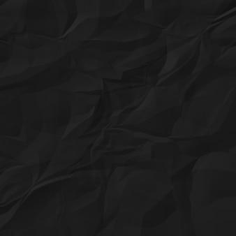 Черная мятая бумага для фона
