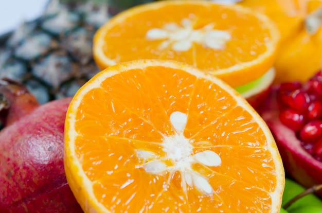 クローズアップのオレンジ色の果物