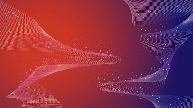Абстрактная структура для науки или медицинского фона генной инженерии и генной манипуляции. инновационные технологии концепции сети научных исследований.