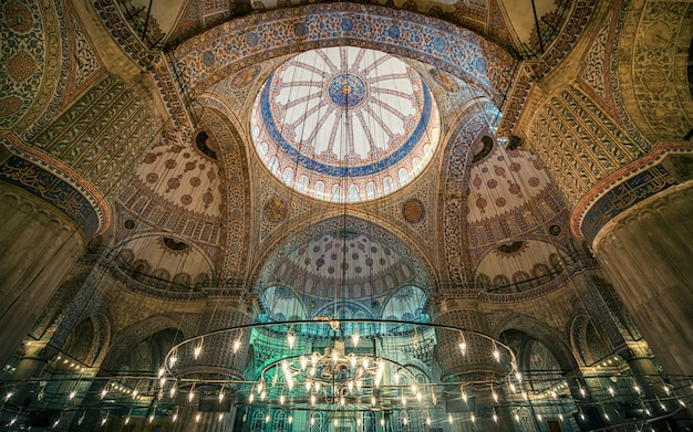 Интерьер голубой мечети стамбул турция