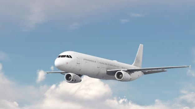 Самолет над облаком голубое небо