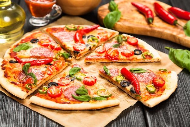 おいしい自家製ピザ