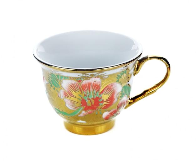 ティーカップが空白の白に