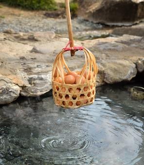 かご温泉の半熟卵