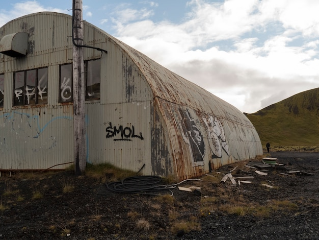 Детали ангара в исландии