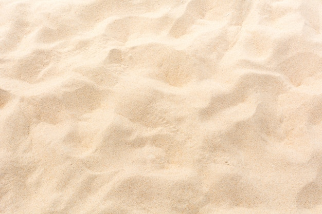 背景としてビーチで砂をクローズアップ