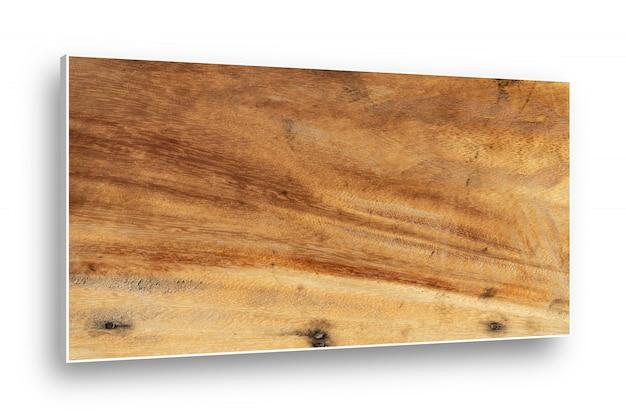 白い背景上に分離されて木製のトップテーブルパターン。