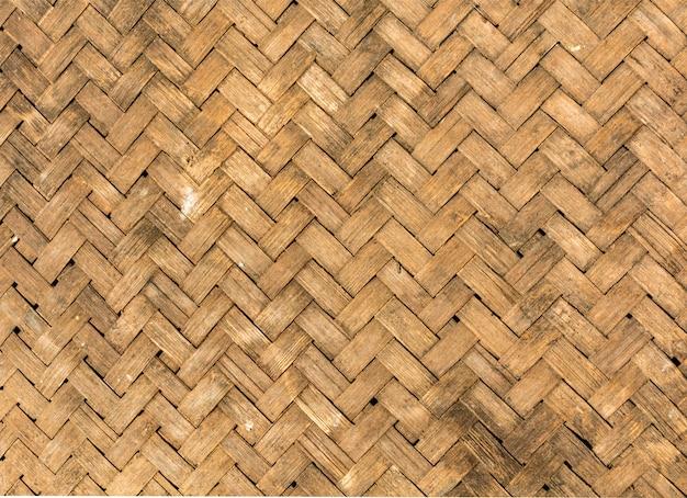 背景としてクローズアップ織り竹