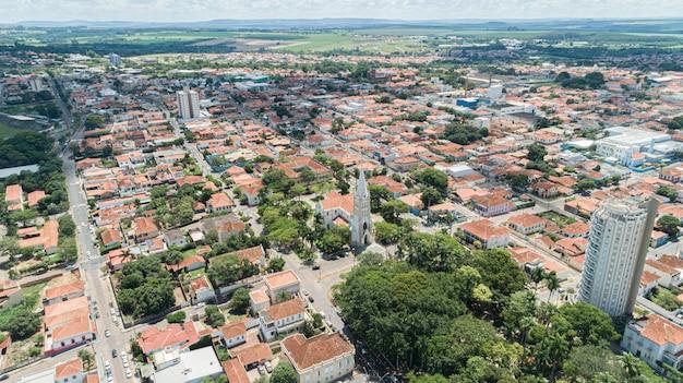 Вид с воздуха города мокока, сан-паулу / бразилия.