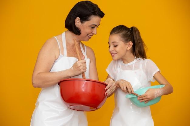 娘と母のレシピの準備