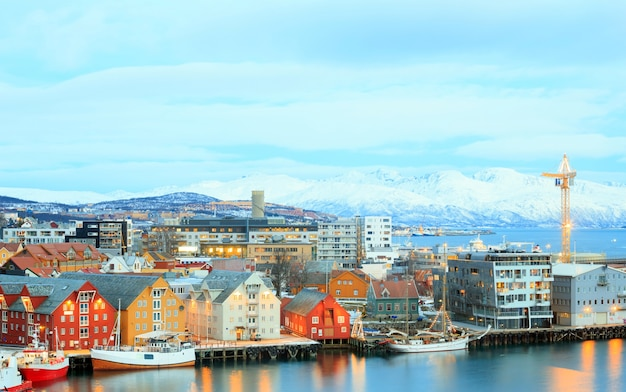 トロムス、ノルウェーのトロムスの街並み