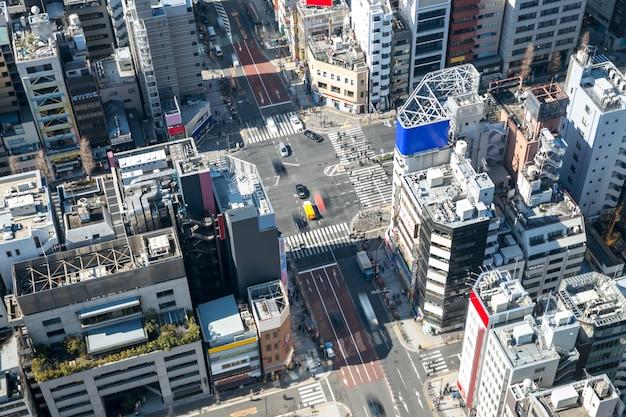 Вид с воздуха на центр токио